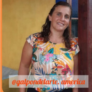 Fernanda Spósito sobre su Galpón del Arte, un espacio donde realiza construcción, restauración de muebles y otros objetos artísticos.