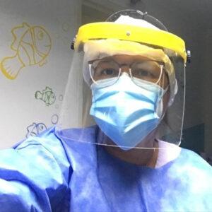 La Lic. en Kinesiología Marcela Lescano sobre las tareas que realizan en el Hospital a pacientes con Covid
